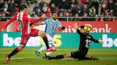 Sin Carlos Vela, Real Sociedad empató 1-1 con Girona como visitante