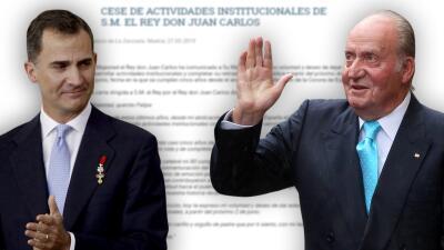 Rey emérito Juan Carlos anuncia retiro de la vida pública con emotiva carta a su hijo, el rey Felipe VI de España
