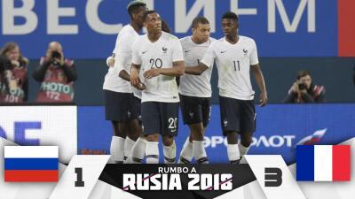 Francia se sacudió y derrotó 3-1 a una Rusia que no levanta cabeza con miras al Mundial
