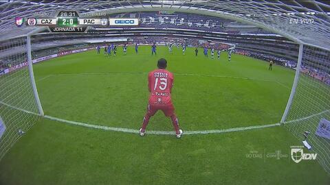¡De penal! Caraglio anota el 2-0 de Cruz Azul
