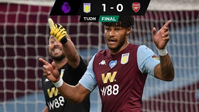 Aston Villa vence al Arsenal y sueña con salvarse; Watford fue humillado por el City