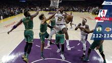 LeBron da puntilla a Celtics al final y Lakers escapa con el triunfo