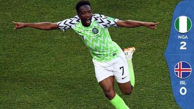 Nigeria derrota a Islandia y mantiene viva la esperanza de Argentina