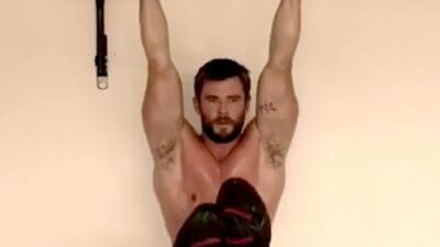 Así se ejercita Chris Hemsworth