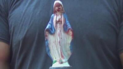 En Guatemala hay una virgen que llora sangre