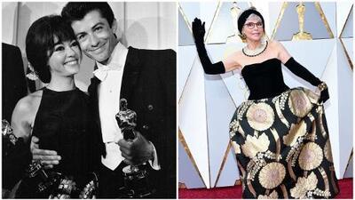 Rita Moreno luce en los Oscar el mismo vestido que usó al ganar su estatuilla hace 55 años