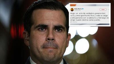 Ricky Martin se suma a los puertorriqueños que exigen la renuncia del gobernador Ricardo Rosselló