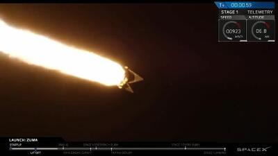 Así lanzó SpaceX el cohete que puso en órbita Zuma, un satélite secreto de EEUU