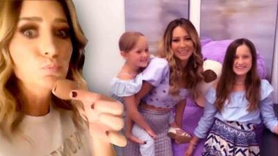 Las hijas de Geraldine Bazán la sorprenden anticipadamente por el Día de las Madres
