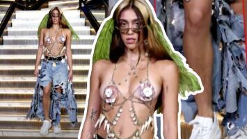 Con sus piernas peludas, hija de Madonna revoluciona la semana de la moda