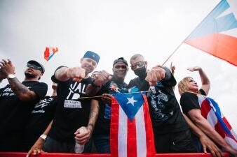 En fotos: el día que los famosos unieron fuerzas para lograr un cambio histórico en Puerto Rico