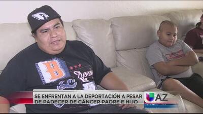 Padre e hijo que padecen cáncer enfrentan una deportación