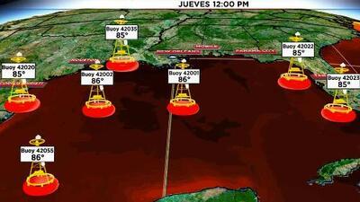 Las altas temperaturas en el Golfo de México pueden ayudar a que Barry se intensifique antes de tocar tierra
