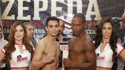 José 'Chon' Zepeda y Ammeth Díaz en peso
