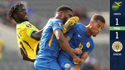 En juego de locura, Curazao le sacó un empate agónico a Jamaica que se cansó de fallar