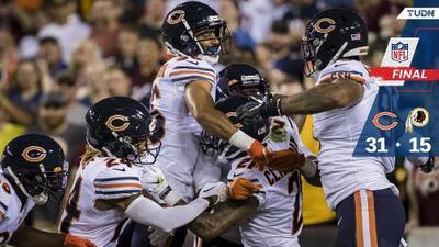 La defensiva de los Bears atemoriza y derrota a los Redskins