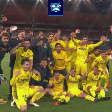 ¡Villarreal festejo eufórico el pase a su primera final europea!