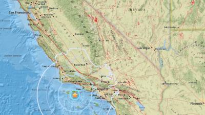 Temblor de magnitud 5.3 se sintió en el sur de California