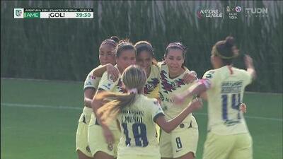 ¡Gooool de América! Daniela Espinosa pone el 1-0 con la rodilla