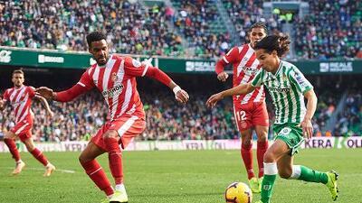 Quique Setién, DT del Betis, alabó a Diego Lainez en su debut