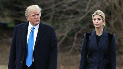 """Trump dice que su hija Ivanka sería """"increíble"""" en la ONU pero que si la elige sería acusado de nepotismo"""