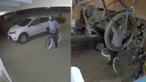 Cámara de seguridad capta el momento de un robo al noreste de Fresno