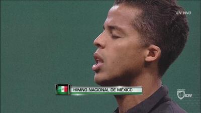Esta es la ceremonia de los himnos nacionales de México y Bosnia