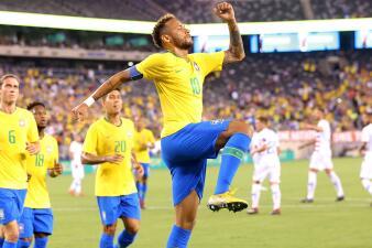 En fotos: Neymar y Brasil pasean sin problemas contra Estados Unidos