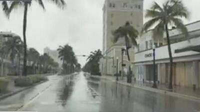 Desolación total en Miami Beach por la llegada del huracán Irma