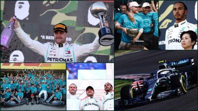 Valtteri Bottas es campeón en Japón