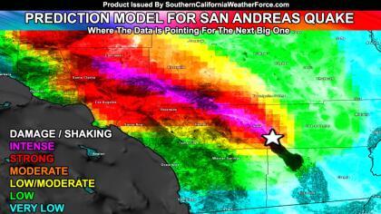 Modelo de predicción de impacto por un terremoto en la falla de San Andrés.