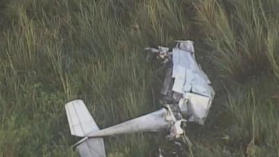 Tripulantes de avioneta sobreviven milagrosamente a accidente en los Everglades