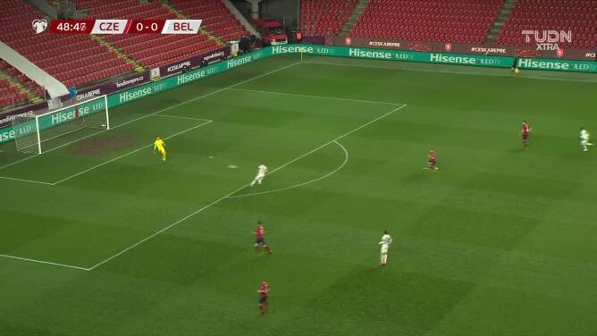 ¡Gol de República Checa! Provod puso el primero ante Bélgica