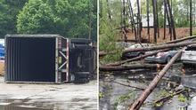 Un muerto, árboles caídos, autos dañados y fallas eléctricas: Tormentas dejan caos en varios sectores en metro Atlanta