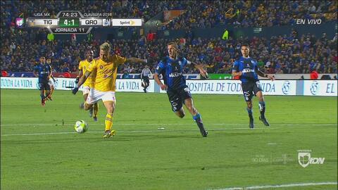 ¡Gol, gol, gol de Tigres! Eduardo Vargas consigue anotación