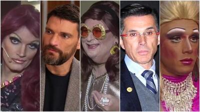 Hombres famosos con falda y tacones: Julián Gil, El Gordo, Sergio Mayer (y más) vestidos de mujer