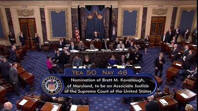 En medio de protestas, el Senado confirma por mínima diferencia a Brett Kavanaugh para la Corte Suprema