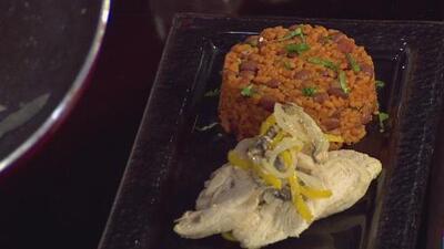 La receta: arroz mampo dulce con pechuga y setas al ajillo