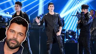 CNCO domó al 'monstruo' de la Quinta Vergara y Ricky Martin no pudo estar más orgulloso
