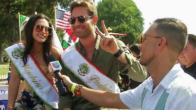 Sebastián Rulli y Renata Notni celebraron la Independencia de México en el tradicional desfile de Los Ángeles
