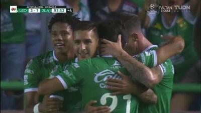 ¡GOOOL! Leonardo Ramos anota para León