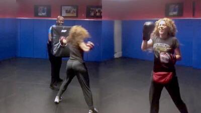 Shakira sorprende con sus puñetazos a la policía de Miami Beach
