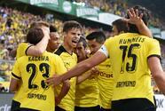 El Dortmund acecha al Bayern tras aplastar 4-0 al Mönchengladbach