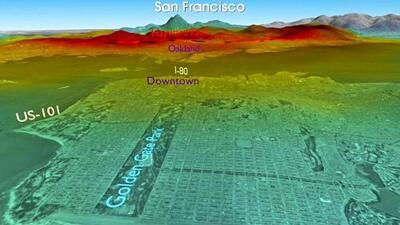 Terremoto 'HayWired': la onda sísmica viaja de Oakland a San Francisco en cuestión de segundos