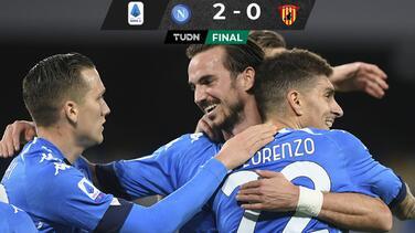 Napoli vence al Benevento y se acerca a puestos europeos