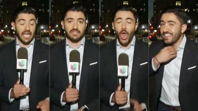 Periodista de Univision se tragó una mosca en plena transmisión: mira por qué el momento se ha vuelto viral