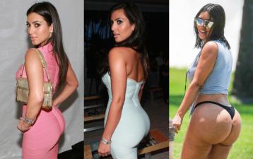Las fotos que cuentan la historia detrás del trasero millonario de Kim Kardashian