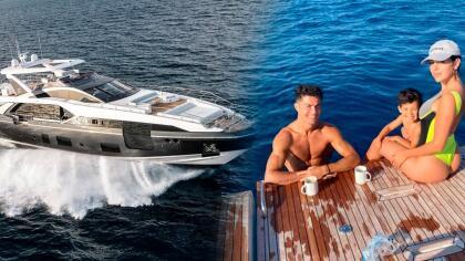 """<b>""""Haz tus sueños realidad, siempre con una compañía especial""""</b>, ese fue el mensaje que el futbolista portugués envió a través de su cuenta de Instagram, junto a una foto en la que se ve acompañado de su pareja Georgina Rodríguez, a bordo de la majestuosa embarcación."""