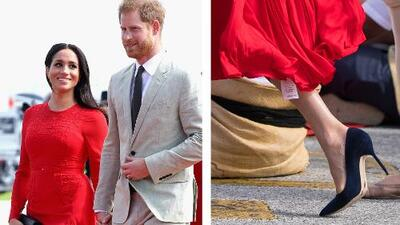 El look de la semana es para Meghan Markle por usar un vestido sin quitarle la etiqueta