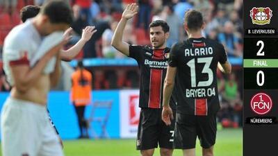 El Leverkusen permanece en puestos europeos tras derrotar al Nürnberg
